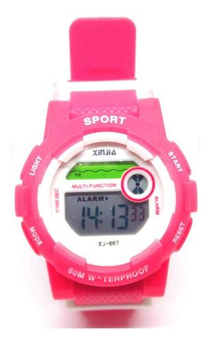 relógio infantil menina xinjia sports xj 867 a prova dagua