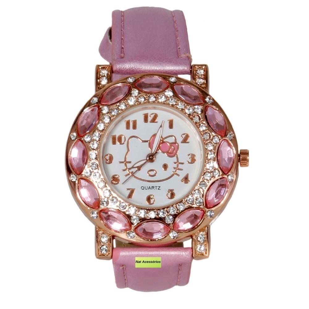 a17afed20 Relógio Infantil Meninas Da Hello Kitty - R$ 42,00 em Mercado Livre