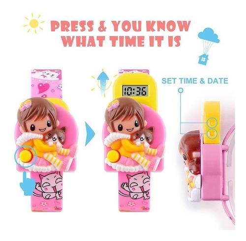 relógio infantil menino menina criança digital calendário