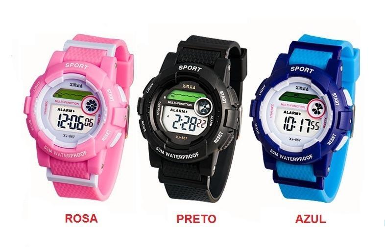 49939a630 Relógio Infantil Menino Menina Digital Prova De Água - R$ 38,00 em ...