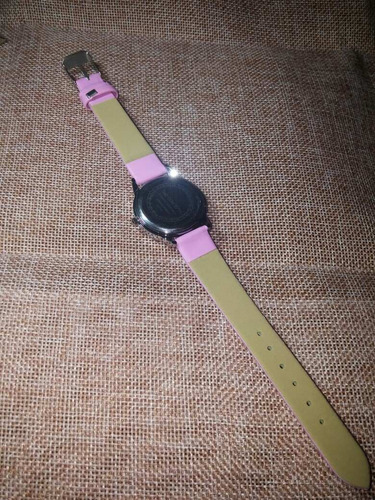 relogio infantil princesa elsa pulseira de couro rosa /preto