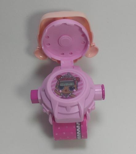 relógio infantil projetor da lol digital