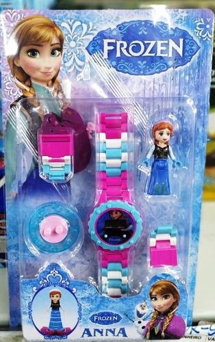 relógio infantil pulseira personagem disney frozen lego