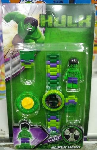 relógio infantil pulseira personagem hulk lego