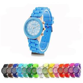 Relógio Infantil Unisex Geneva Pulseira De Silicone Colorido