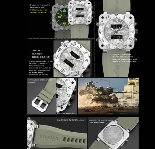 relógio infantry militar camuflado tático airsoft infa