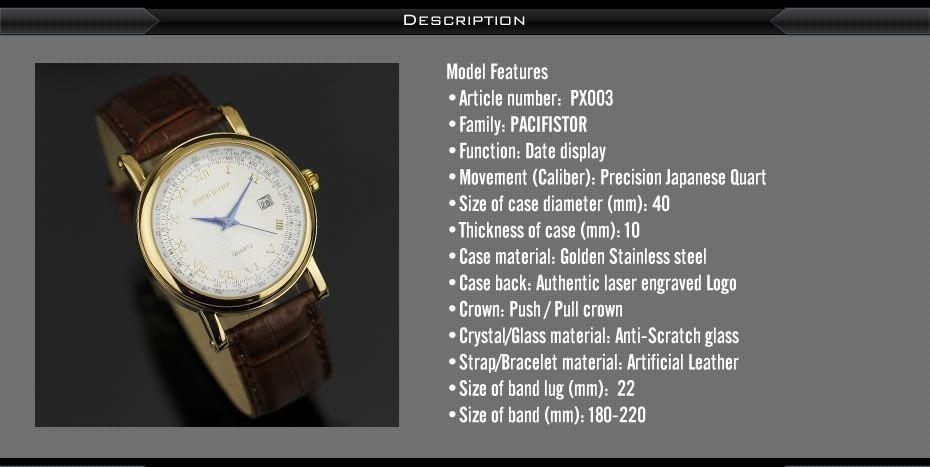 b030824c499 relógio infantry quartz pacifistor luxo pulseira couro marro. Carregando  zoom.