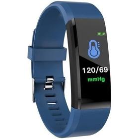 Relógio Inteligente  Smartband 3 Id-115 Plus Português Preta,azul Mede Pressão  Para Esporte, Uso Social Controle Saúde