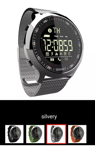 relogio inteligente lokmat bluetooth android/ios 5atm/50m