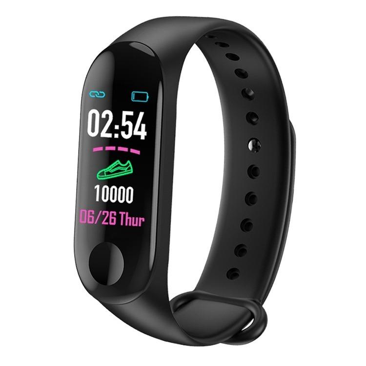 7416d437b7c Relógio Inteligente Smartband M3 Bat Cardíacos Tela Colorida - R ...