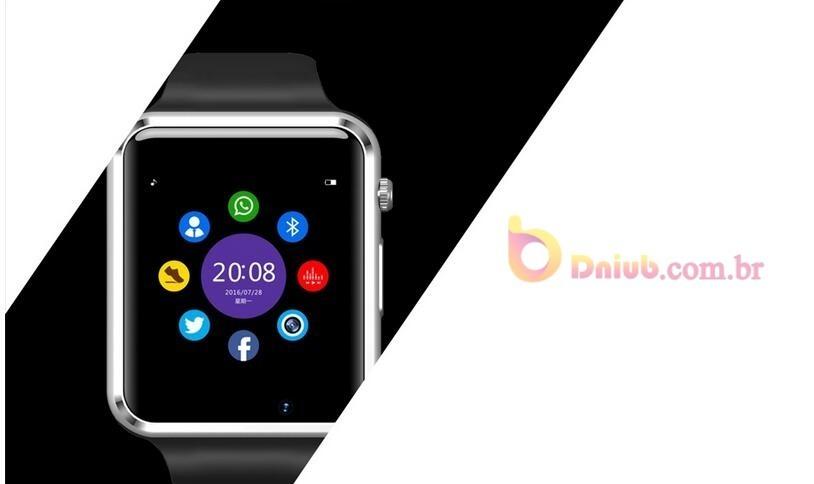 a3e110f97a7 Relogio Inteligente Smartwatch A1 Android Ios Bluetooth Chip