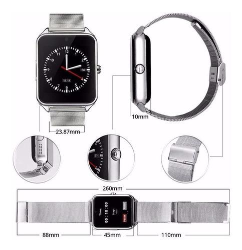 relógio inteligente z60 casual pedômetro chip ligação + fone