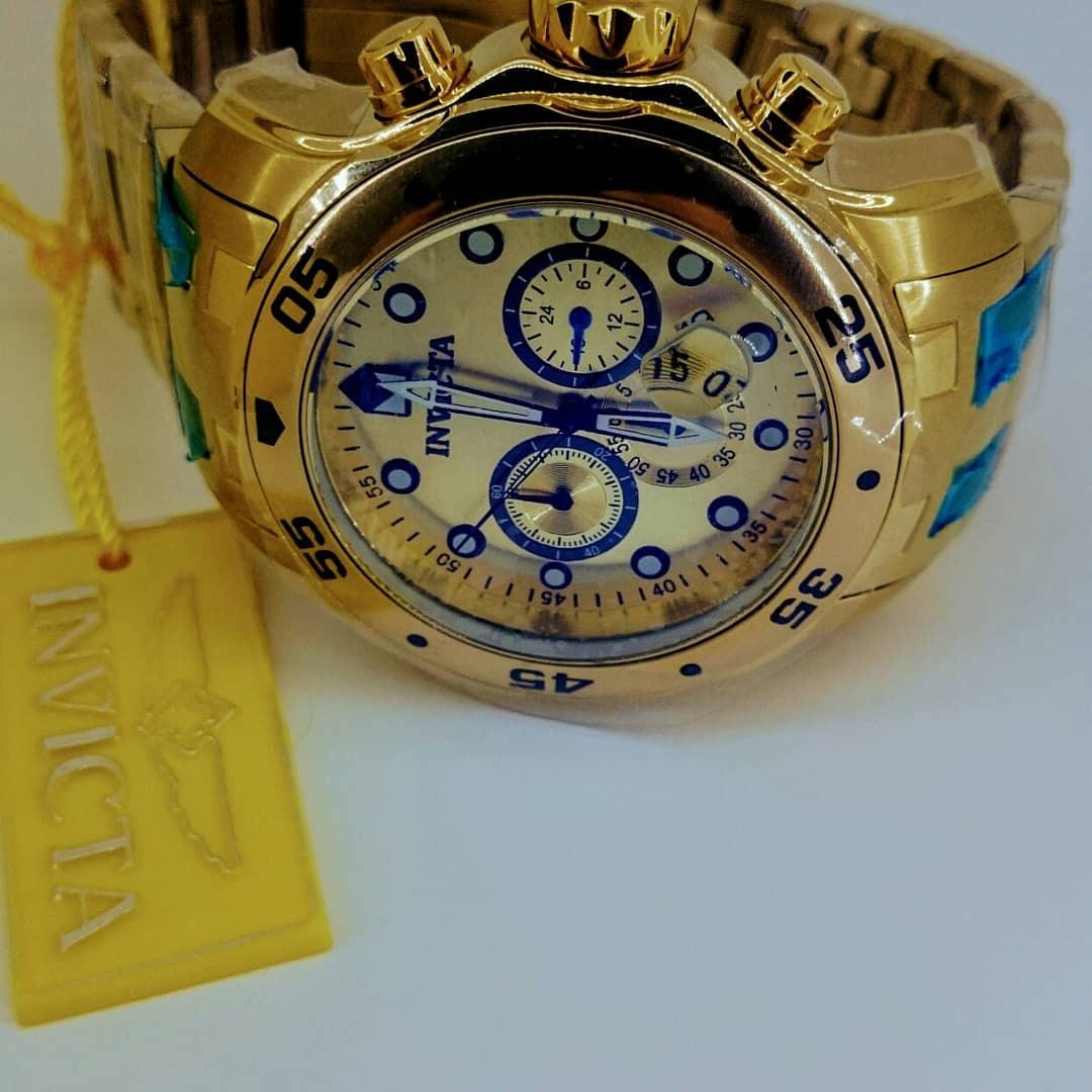 623fc67ad5c relógio invicta 0074 100% original ouro 18k produto novo. Carregando zoom.