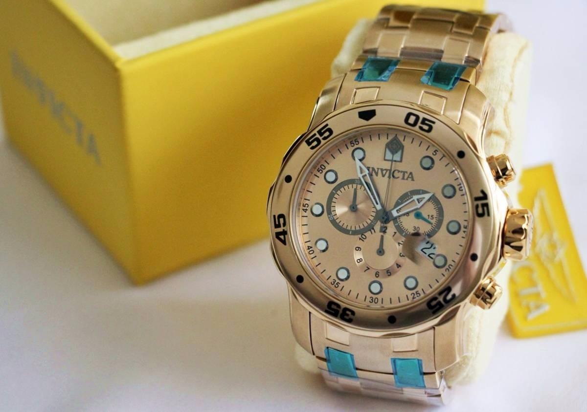 98a67f66af5 relógio invicta 0074 original pro diver chronograph- 18k. Carregando zoom.