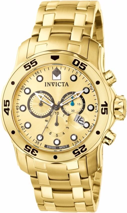 e8845a49fdb relógio invicta 0074 pro diver banhado ouro 18k original. Carregando zoom.