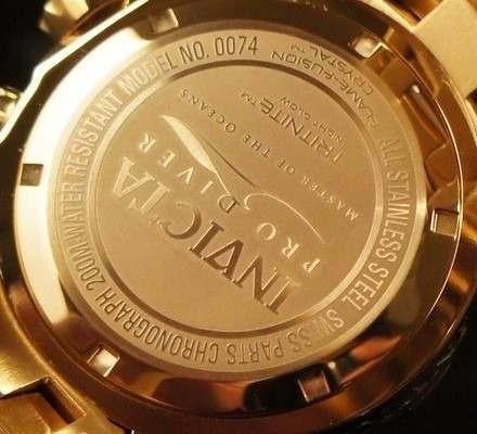 bdabf5359f7 Relógio Invicta 0074 Pro Diver Banhado Ouro 18k Original - R  469