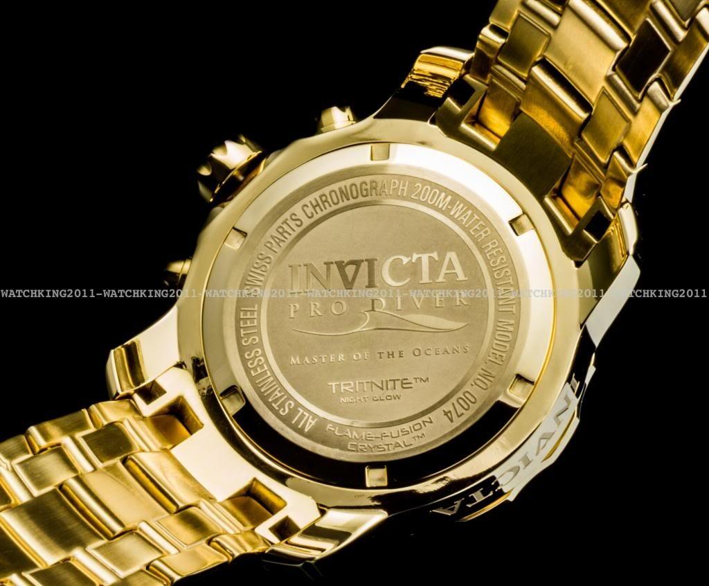 cf720944679 relogio invicta 0074 pro diver original b. ouro 18k dourado. Carregando  zoom.