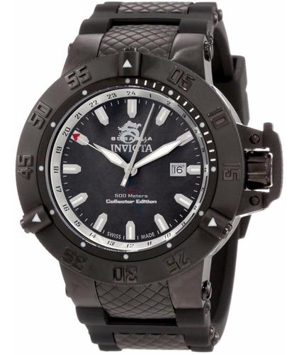 relógio invicta 0736 subaqua noma iii 3 black grande 50mm