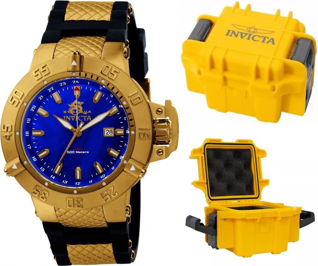 8fdafeb5f02 relógio invicta 1150 subaqua original banhado ouro maleta. Carregando zoom.