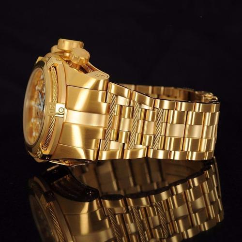 relógio invicta 12763 zeus reserve skeleton dourado 078