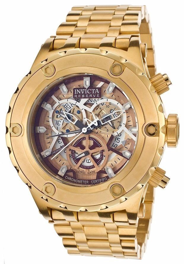 3722dfcd3e7 relógio invicta 13744 masculino original banhado a ouro 18k. Carregando  zoom.