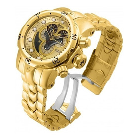Relógio Invicta 14462 Dourado 18k Venom Híbrido - Reserve