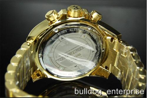 relógio invicta 14473 excursion reserve dourado frete grátis