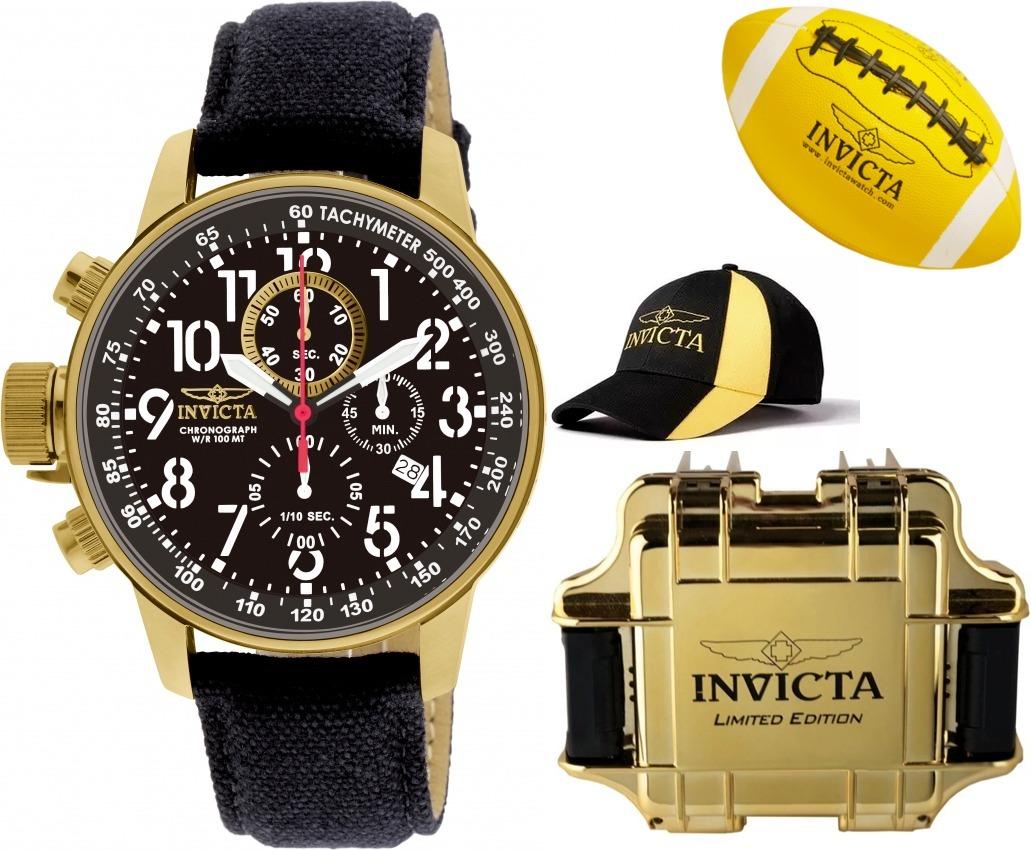 7fe895c8878 relógio invicta 1515 banhado ouro original boné bola maleta. Carregando  zoom.