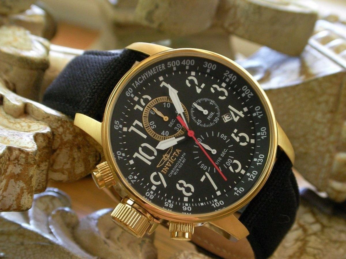 a4424d8d2fa relógio invicta 1515 force original banhado ouro 18k. Carregando zoom.