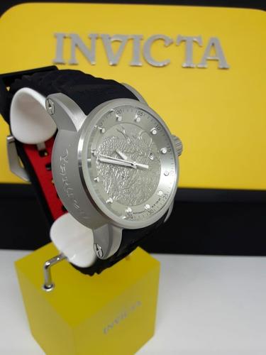 relógio invicta 15862 yakuza s1 rally automático prata pulse