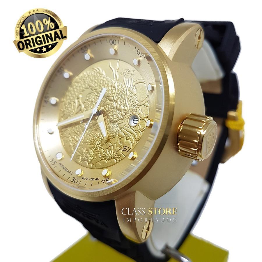 78c42e734e7 Relógio Invicta 15863 Yakuza S1 Automatico Preto Original - R  989 ...