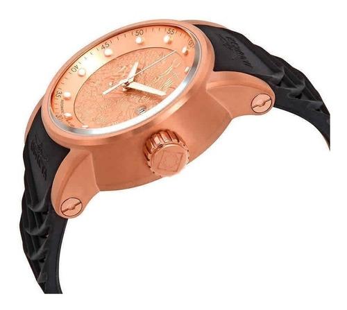 relógio invicta 18181 dragão dourado rose - yakuza