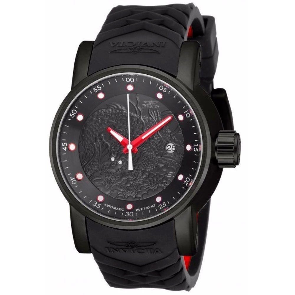 719d7e1b156 relógio invicta 18213 s1 yakuza preto vermelho original. Carregando zoom.
