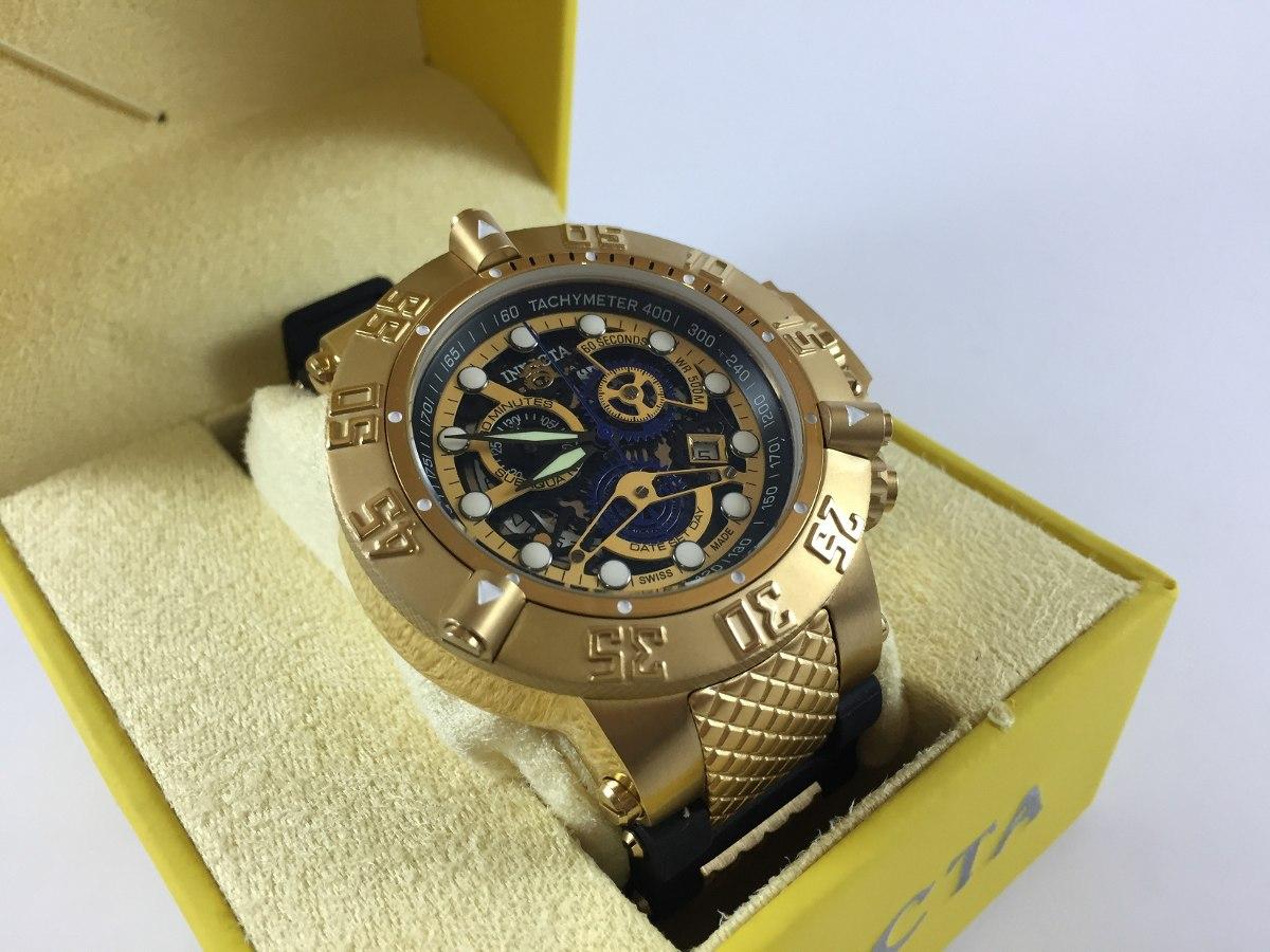 0a0d85d72cd relógio invicta 18526 subaqua noma iii skeleton dourado novo. Carregando  zoom.