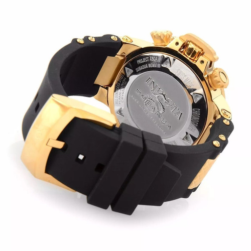 relógio invicta 18528 subaqua swiss banhado ouro 18k