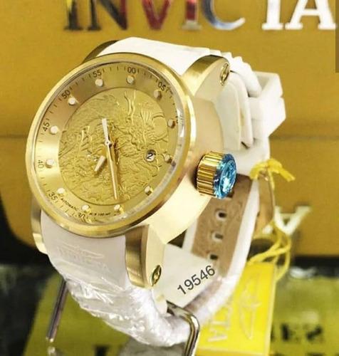 relógio invicta 19546 yakuza automático banhado ouro maleta
