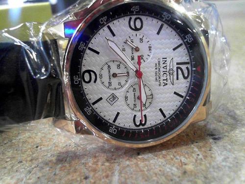 relógio invicta 20136 i-force original couro masculino