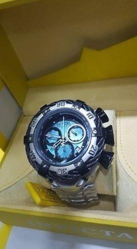 relógio invicta 21358 thunderbolt prata preto top ca21