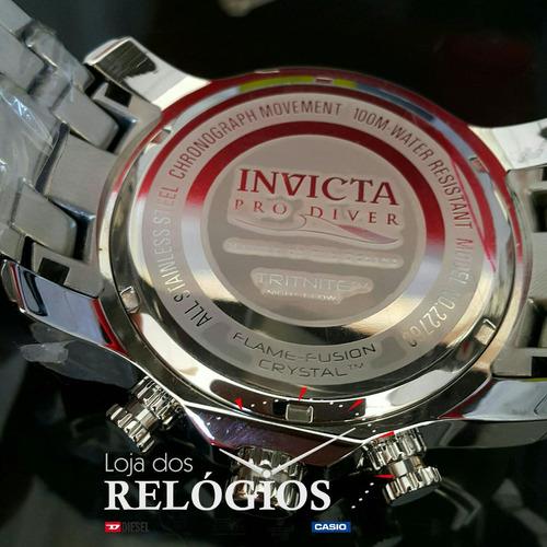 relógio invicta 22760 prata mostrador preto original lindo