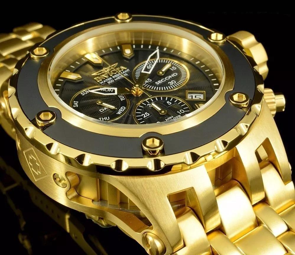 ed896d8d408 relógio invicta 23921 original swiss z60 banhado ouro 18k. Carregando zoom.