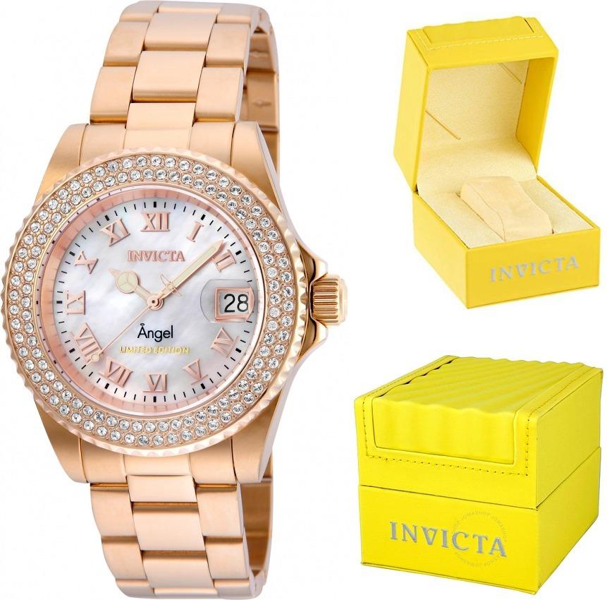 4ddc50a0321 relógio invicta 24615 feminino swiss banhado ouro original. Carregando zoom.