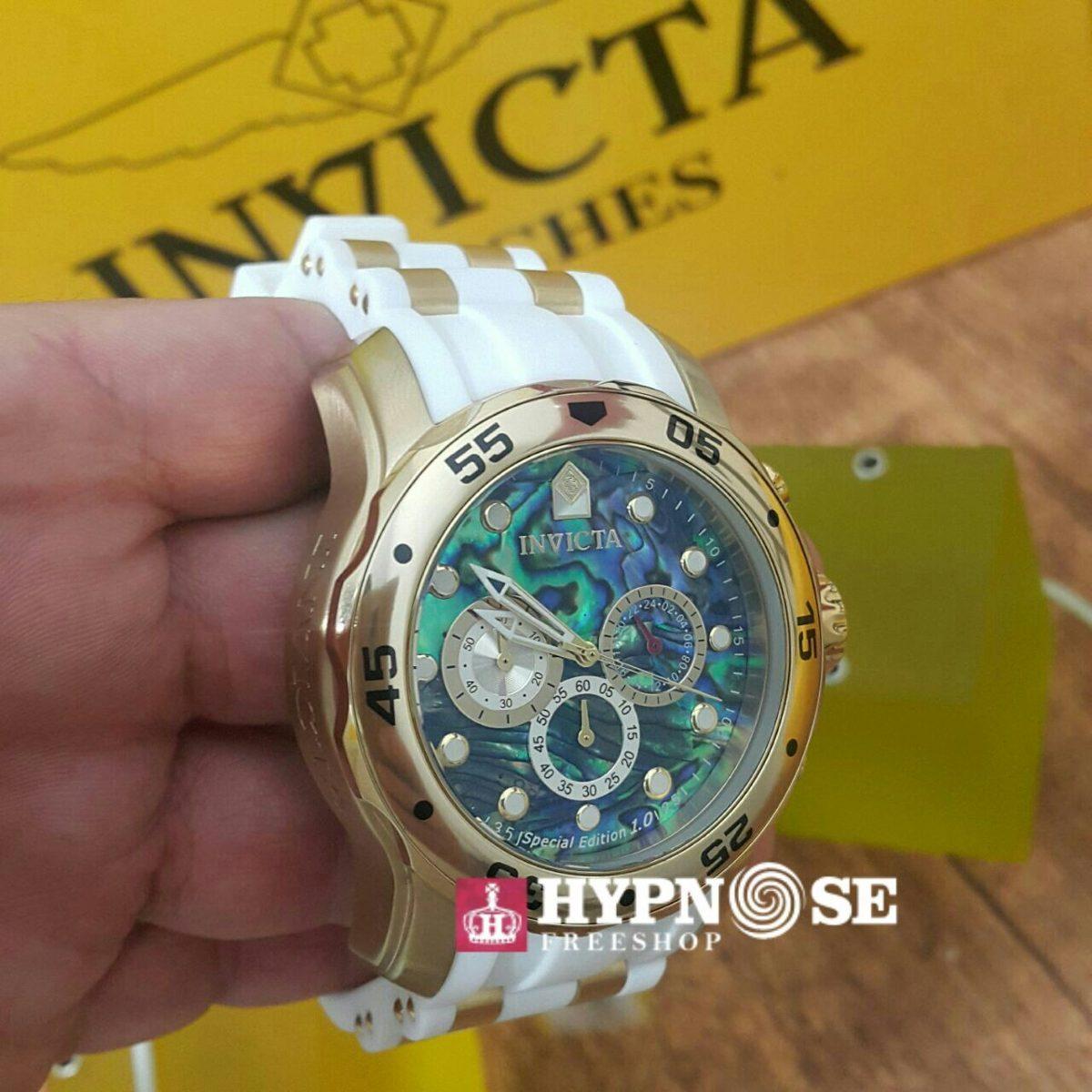 00857cfba91 relógio invicta 24840 pulseira de borracha + maleta slot 1. Carregando zoom.