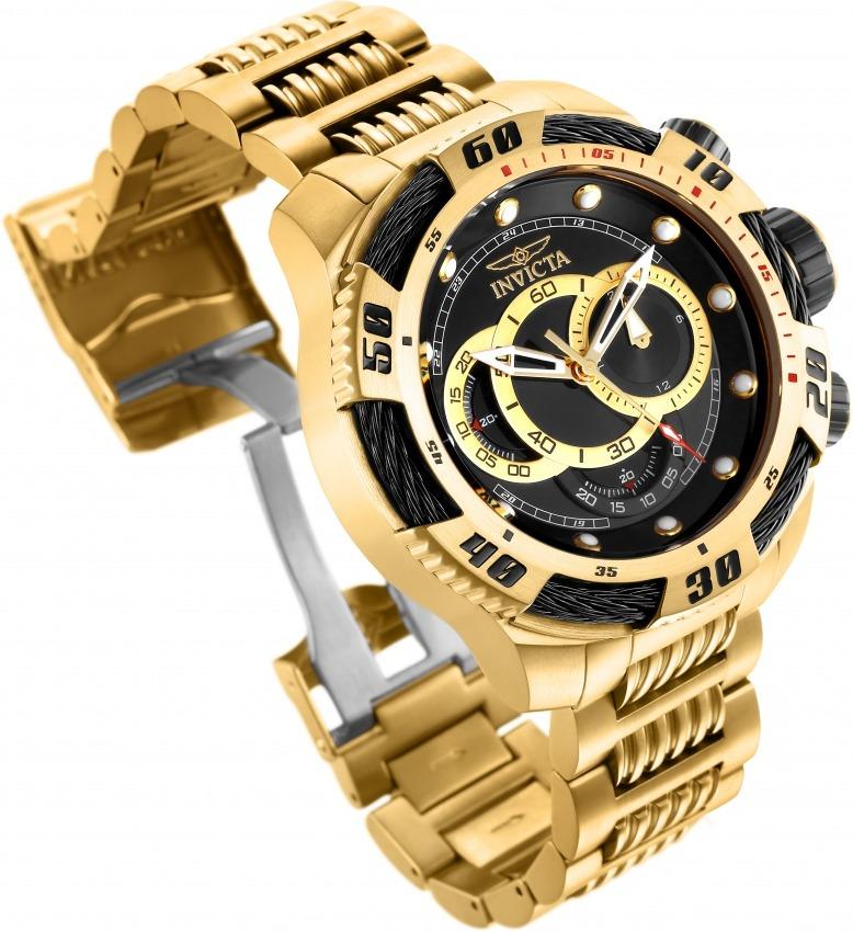 fbd67ade619 relógio invicta 25484 masculino banhado ouro original. Carregando zoom.