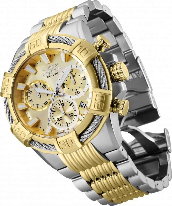 b6e10d5718f relógio invicta 25864 masculino banhado ouro 18k. Carregando zoom.