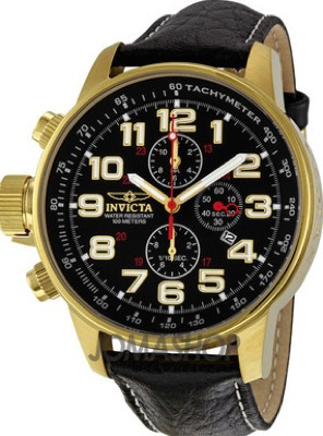 relógio invicta 3330 force collection banhado a ouro 18k
