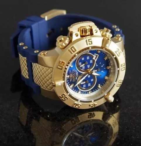 a398e3a12cb Relógio Invicta 5515 Dourado Azul Promocional Novo - R  444