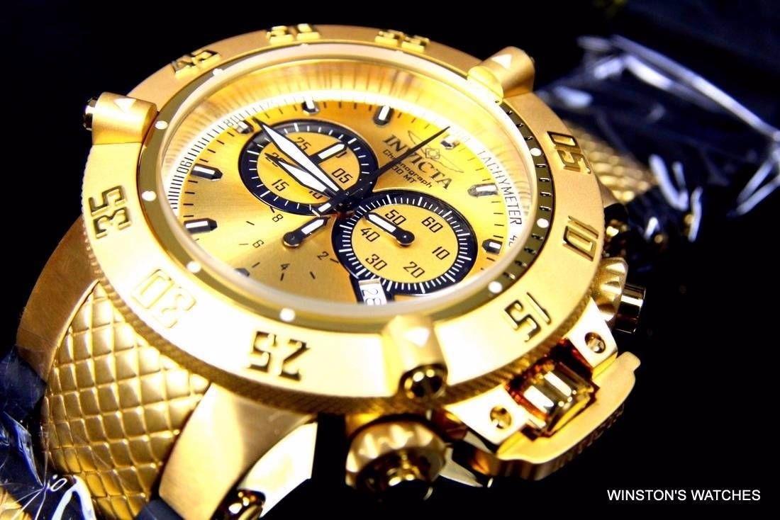 c1e0792ec2e relogio invicta 5517 subaqua noma 3 iii ouro 18k grande 50mm. Carregando  zoom.