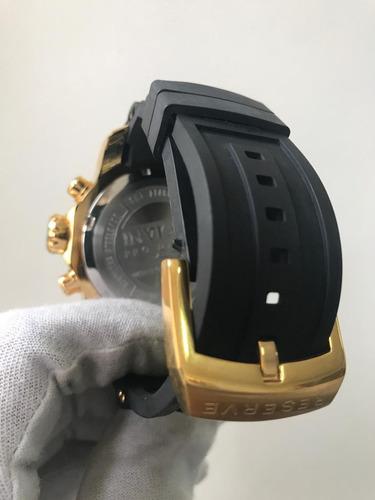 relógio invicta 6981 pro diver dourado preto 48mm +garantia