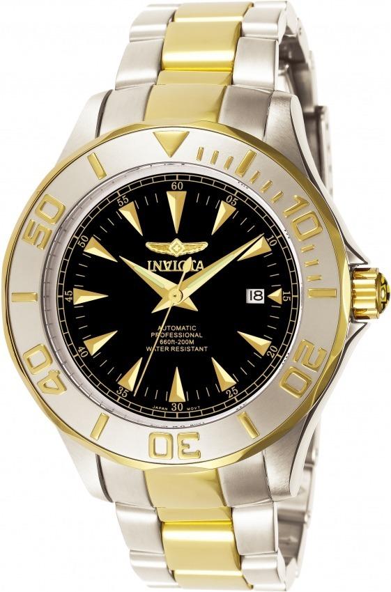 a3342c68b5d relógio invicta 7037 automático original banhado ouro 18k. Carregando zoom.