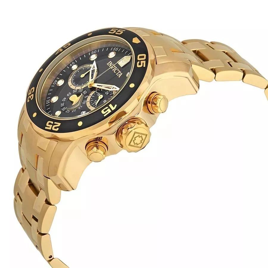 b517cc9146e relógio invicta 80064 pro diver masculino banhado ouro 18k. Carregando zoom.